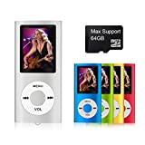 Mymahdi – digitale, compatto e portatile MP3/MP4 player (max Support 64 GB Micro SD Card) con visualizzatore di foto, e-book reader e radio FM e registratore vocale video Movie in argento immagine
