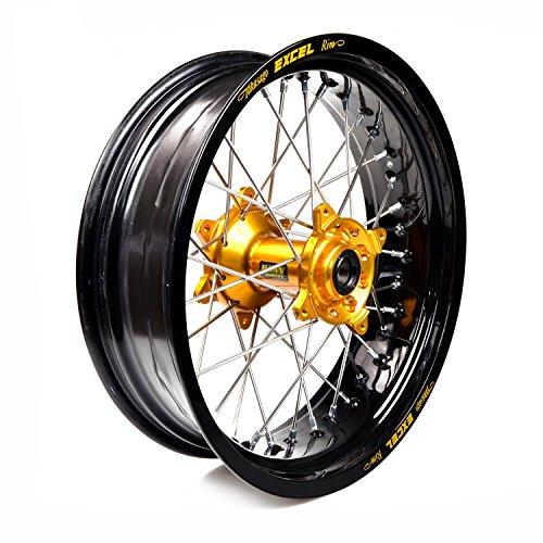 Haan the best amazon price in savemoney haan wheels rueda completa aro negro 17 500 buje oro 1 46109 fandeluxe Image collections