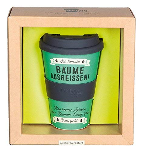 Image of Grafik Werkstatt // Bambusbecher // Kaffeebecher // Coffee-to-Go // Trinkbecher // 400 ml // Bamboo-to-go // Bäume