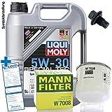 Ölwechsel Set Inspektion 5L Liqui Moly Special Tec 5W-30 Motoröl + MANN Ölfilter + Öl Ablassschraube Verschlussschraube