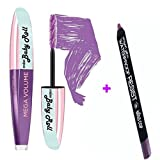 Kit Mascara Volumen Curling Wimpern amplifies violett + Bleistift Wasserdicht Violett