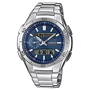 Casio Men's Wave Ceptor Analogue/Digital Quartz Watch with Solid Stainless Steel Bracelet WVA-M650D-2AER