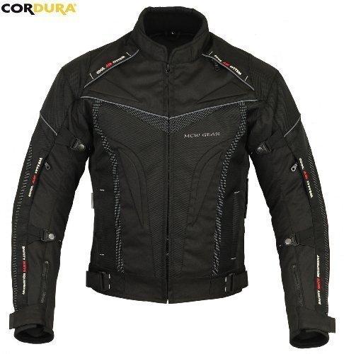 MCW Gear Elegante Hawk Moto Impermeabile Motocicletta Protezione Tessuto, Giacca Cordura CE Protettore - XXL