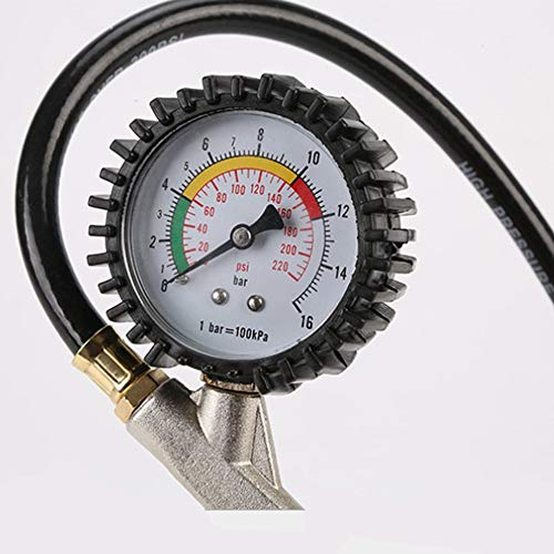 Pistola di gonfiaggio pneumatici universale con manometro pressione 16 bar
