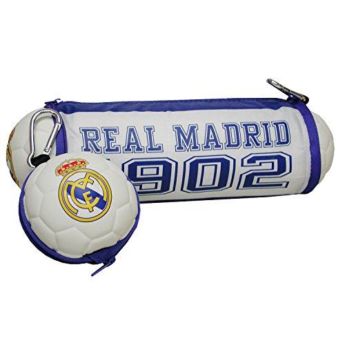 Real Madrid FC pb-100-rm zusammenklappbar Fußball Bleistift Fall mit Clip Befestigung