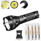 LUMINTOP® SD75 4000 Lumen Wiederaufladbare Suchscheinwerfer LED Taschenlampe+4x3400 mAh 18650 Bundle