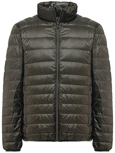 Sawadikaa giacca da uomo corto piumino di inverno cappotto parka manica lunga army green xx-large