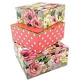 Les Trésors De Lily P5771 - Set aus 3 nistkästen 'Belle Epoque' pink grün - 18.5x9 cm.