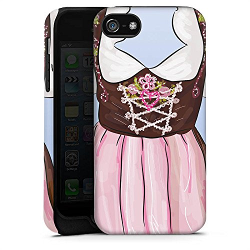 Apple iPhone X Silikon Hülle Case Schutzhülle Oktoberfest Muster Dirndl Tough Case matt