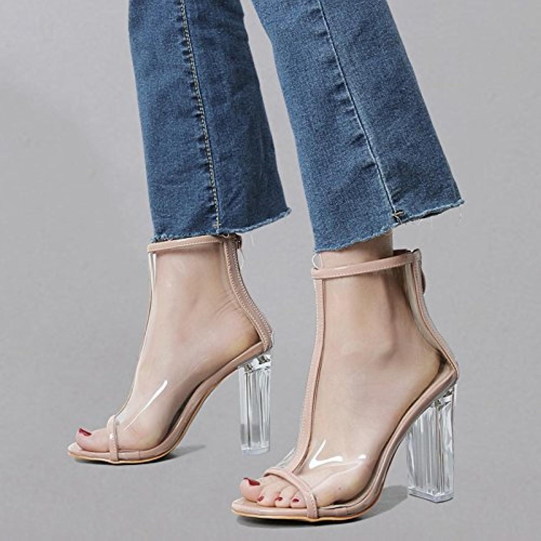 YMFIE Sexy europea in cristallo trasparente tacco alto sandali temperamento moda personalità bocca di pesce scarpe... | Impeccabile  | Uomini/Donne Scarpa