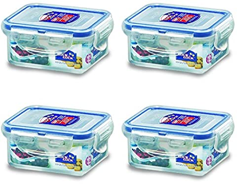 Lock & Lock, No BPA, Water Tight, Food Container, 0.7-cup, 6-oz, Pack of 4, HPL805 by LockandLock