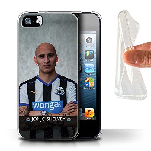 Officiel Newcastle United FC Coque / Etui Gel TPU pour Apple iPhone SE / De Jong Design / NUFC Joueur Football 15/16 Collection Shelvey