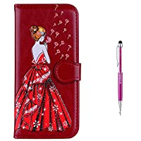 iPhone 8 Plus Case,iPhone 7 Plus Case,GrandoinŽ [Colorful Girl Prints Series] Premium PU Leather Magnetic Flip Cover with Card Slots Holders [Soft Silicone Inner] Bookstyle Wallet Case For Apple iPhone 7 Plus / iPhone 8 Plus 5.5