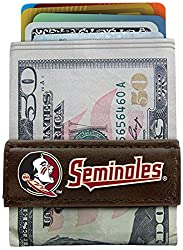 NCAA Florida State Seminoles Classic Football Money Clip Wallet, One Size, Brown