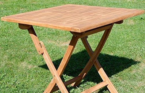 ASS ECHT Teak Klapptisch Holztisch Gartentisch Garten Tisch 80×80 cm JAV-Aves Holz von