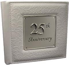 Idea Regalo - Joe Davies - Album fotografico per il 25° anniversario di matrimonio, idea regalo, colore: Argento