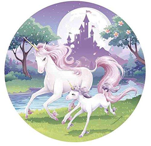 Tortenaufleger * FANTASY EINHORN * als Deko für Torten und Kuchen // Unicorn Kinder Geburtstag Kindergeburtstag Kinderparty Party
