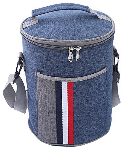 HUIMEIDE Lunchbox Verschiedene Größen Tasche kühltasche Isoliertasche Kleine Lunchtasche die Arbeit und Schule (Runde 20 * 25cm)
