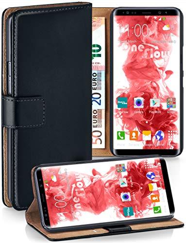 MoEx® Booklet mit Flip Funktion [360 Grad Voll-Schutz] für Samsung Galaxy Note8 | Geldfach und Kartenfach + Stand-Funktion und Magnet-Verschluss, Schwarz