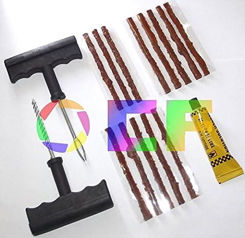 Reifenreparatur Set Reifen Reparatur Set PKW Motorrad+ 13 Stränge der Gummi-Zement