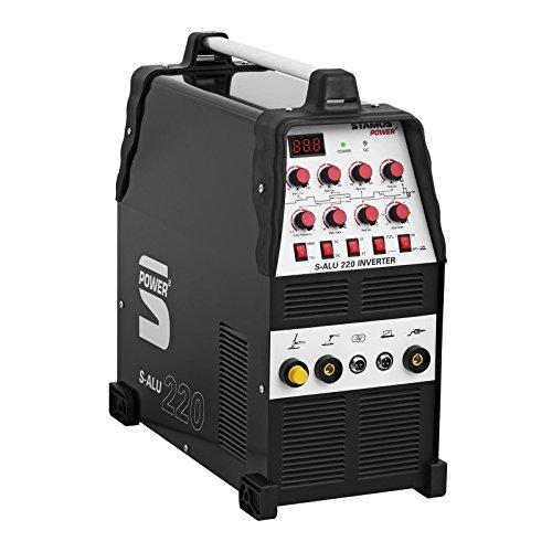 Stamos Power Aluminium Welder Arc Welding Machine Inverter S-ALU 220 (220 A/230 V, TIG AC-DC/MMA, POWER, 2/4 Tact, Power ventilators)