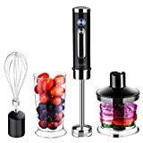 Best Immersion Blenders - Ikich Hand Blender, Professional Powerful 4-in-1 400 Watt Review