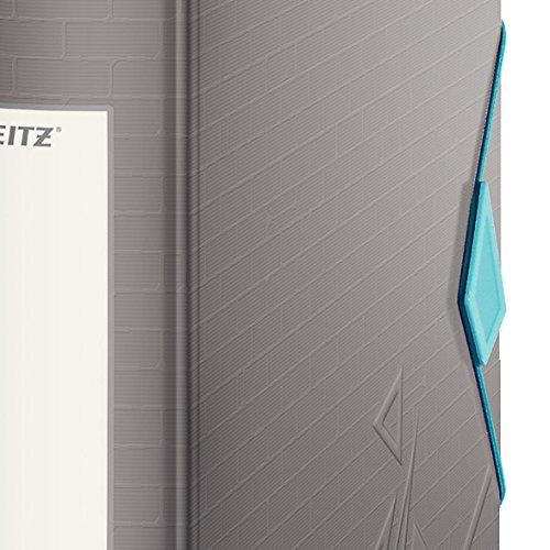 Leitz 11160089 Multifunktions-Ordner (A4, Abgerundeter Rücken 8,2 cm Breite, Gummibandverschluss, Kunststoff, Active Urban Chic) dunkelgrau - 3
