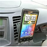 Buybits Removable Crocodile Clip Air Vent Mount with Universal Stick-On Holder for HTC Evo 3D (SKU 11377)