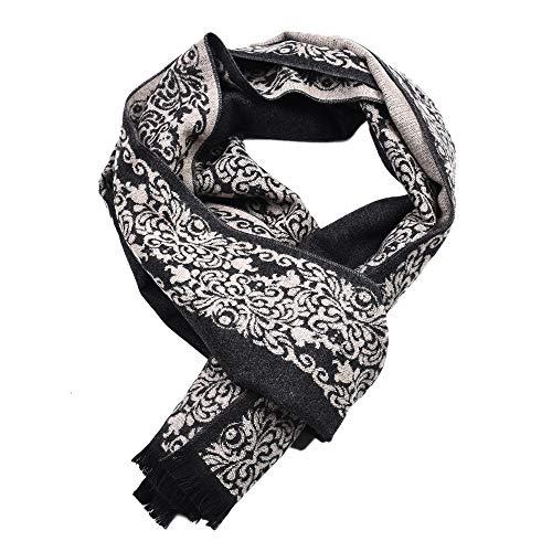 Italily-sciarpa donna uomo multicolore bohemien sciarpa lana sciarpa stile nordico stole scialle quadrato di sciarpa inverno scialle frangia tinta unita nappa lungo sciarpa