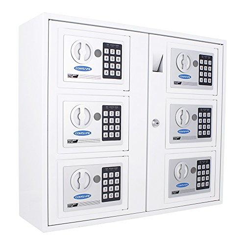 Rottner Schlüsselausgabesystem KeySystem 6 - Elektronikschloss + Zylinderschloss, Schlüsseleinwurf, zur Wandbefestigung