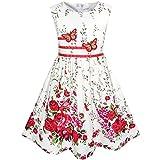 Mädchen Kleid Schmetterling Blume Gr. 128-134