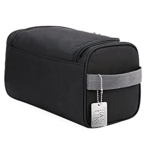 H&S Hanging Travel Toiletry Bag Overnight Wash Gym Shaving Bag for Men and Women Ladies Black