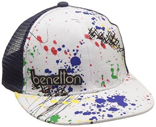 united-colors-of-benetton-visor-cap-gorra-para-ninos-azul-navy-white-1-2-anos-talla-fabricante-1-ano