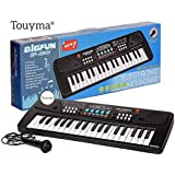 Touyma® 37 Key Piano Keyboard Toy for Kids with Mobile Charger Power Option and Recording - Latest Edition