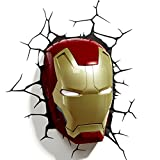 Marvel Comics 3D Iron Man Maske Wandleuchte