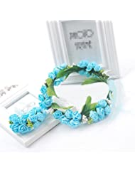 Bride enfants couronnes coiffure mariage cheveux ornements perl accessoires de demoiselle d'honneur accessoires fleurs
