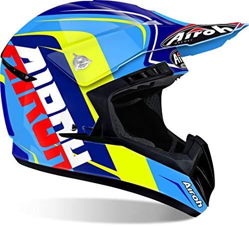 Airoh - casco moto cross airoh switch sign blue gloss swsi18 - casw1a - xs