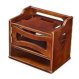 Lagerregal ZHIRONG Massivholz WiFi Router Regal/TV Set-Top Aufbewahrungsbox Wasserdichte Telefon Wandbehang Router Dekorative Box 33 * 22,5 * 29 cm (Farbe : Brown)
