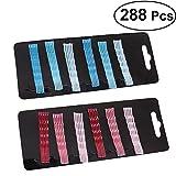 Frcolor 288pcs Wavy Bobby Pins Non Slip Hair Pins Metal Hair Dressing Clip (color mezclado)