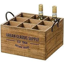 Meubles, décoration - porte-bouteilles de vin - rustique, vintage - matériel: bois - couleur: brun naturel - dim. ca 40 cm