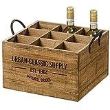 Holz Kiste Flaschenhalter Weinflaschenhalter Flaschenbox L40cm