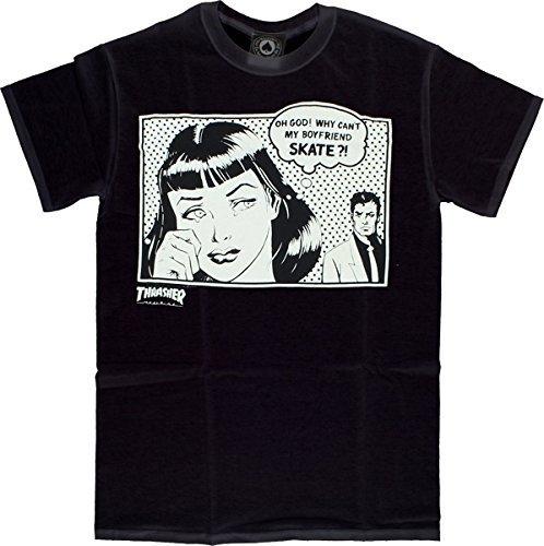 Thrasher boyfriend short sleeve m-black t-shirt by thrasher