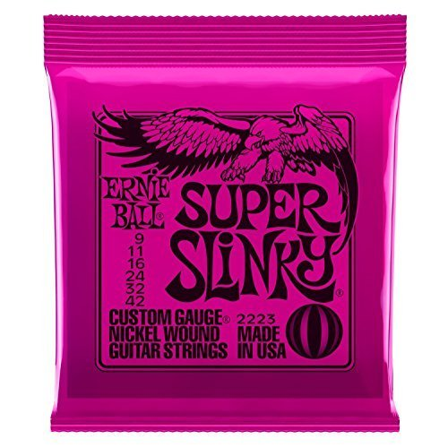 ernie-ball-super-slinky-electric-guitar-strings-includes-6-free-plectrums