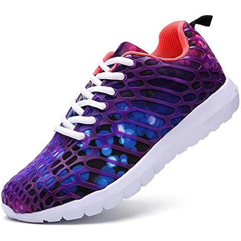 MaylenHughes Zapatillas Deportivas Unisex Transpirables Calzado Casual de Deportes Fitness y Aire