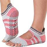 Die besten Barre Socken - Toesox Damen Grip Pilates Barre Socks-Non-Slip Bellarina Half Bewertungen
