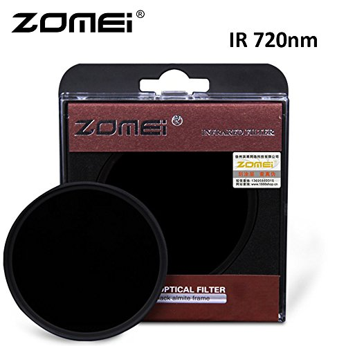 flycoo Zomei Filter Infrarot IR 720nm Optisches Glas für Canon Nikon Sony Panasonic Fujifilm Kodak Kamera DSLR Kamera 25mm–105mm