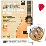 Garantie Guitare acoustique de blues apprendre-J'apprends les techniques de jeu et de blues classique des anciens Meister-fundierte aperçu dans le stilistiken acoustique de l'Blues-lehrbuch avec CD et Dunlop plek...