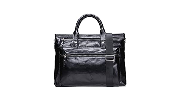 983755a25dc2 Asdflina Multifunction Men s Real Leather Leisure Business Briefcase Handbag  Suitable everyday use  Amazon.co.uk  Kitchen   Home