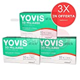 3X YOVIS STICK - Integratore di Fermenti Lattici Vivi da 50 Miliardi - 30 BUSTINE