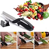 [Sponsored]Shayona Enterprise Clever Cutter 2 In 1 Food Chopper/Tool Slicer Dicer/Vegetable & Fruit Cutter/Kitchen Scissors/Knife/Chopping/Cutting Board